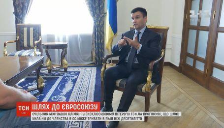 Шлях України до членства в Євросоюзі може тривати більш ніж десятиліття – Клімкін