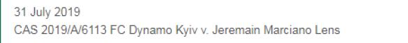Справа Ленса проти Динамо