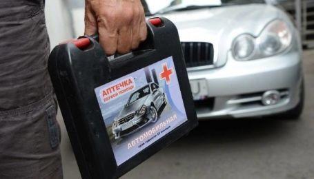 Водіям розповіли, який накладається штраф у разі відсутності автомобільної аптечки