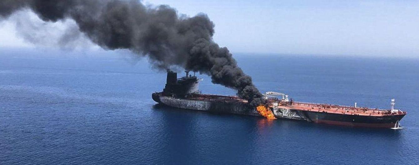 Нападение на танкеры в Оманском заливе. В Сети опубликовали видео катастрофы