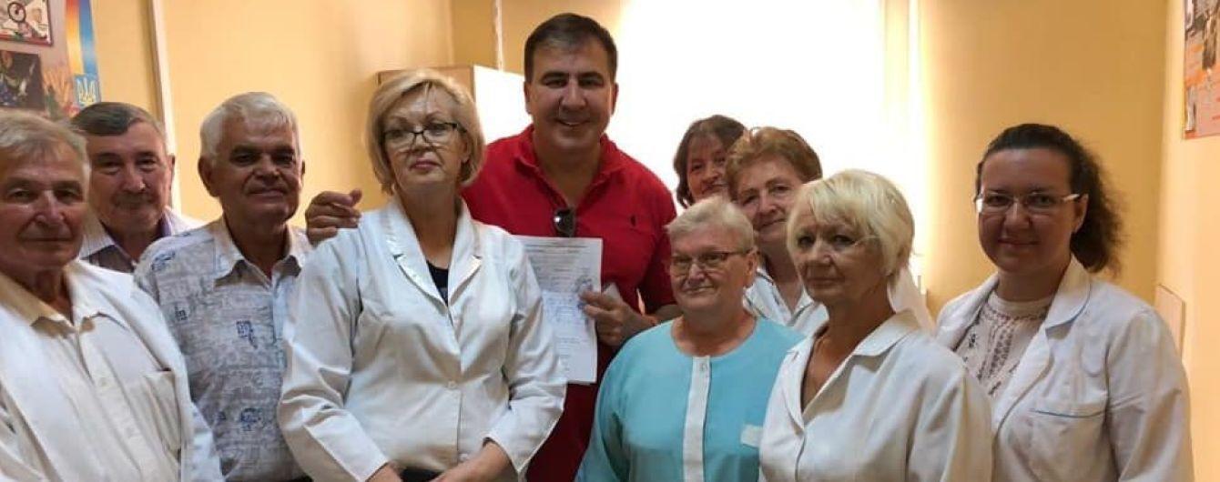 Саакашвили стал на военный учет в Украине