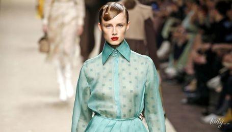 Гарні колірні поєднання в колекції Fendi сезону осінь-зима 2019-2020
