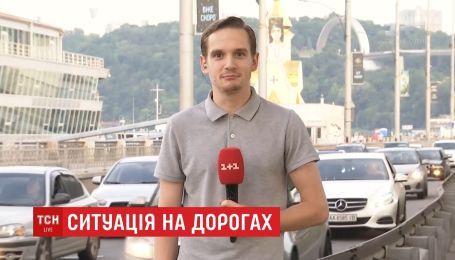 Киев замер в привычных перед выходными пробках