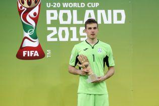 Лунін став найкращим воротарем Чемпіонату світу U-20