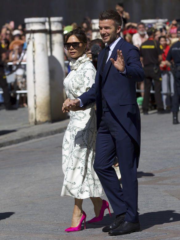 Девід та Вікторія Бекхем на весілля Рамоса