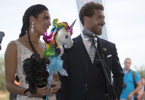 Серхіо Рамос з дружиною, весілля