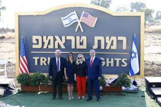Израиль открыл на Голанских высотах поселение, названное в честь Трампа