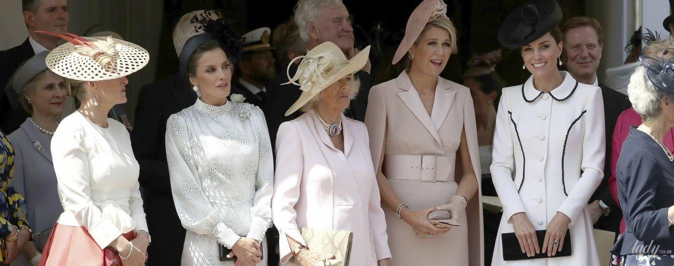Вся королівська рать: Летиція, Максима, Єлизавета II, герцогині Кейт і Камілла на церемонії