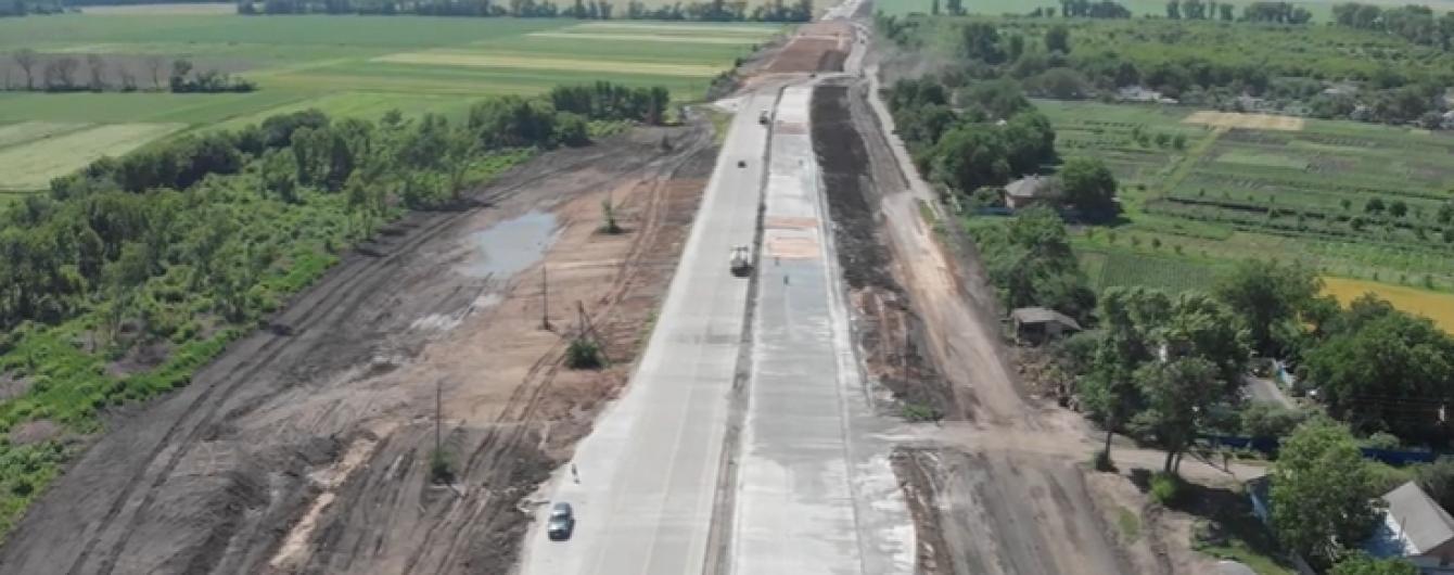 Збудовану на Полтавщині бетонку показали на відео