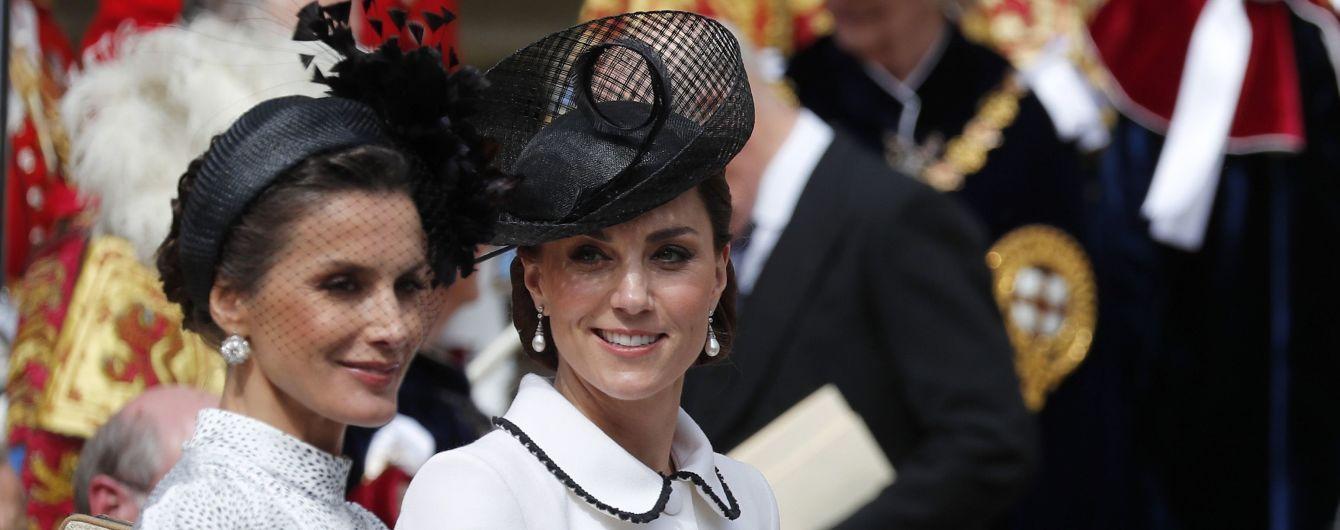 Радісна Кейт Міддлтон у монохромі відвідала церемонію Ордена Підв'язки у Віндзорі