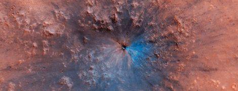 NASA показала знімки новоутвореного кратера на Марсі
