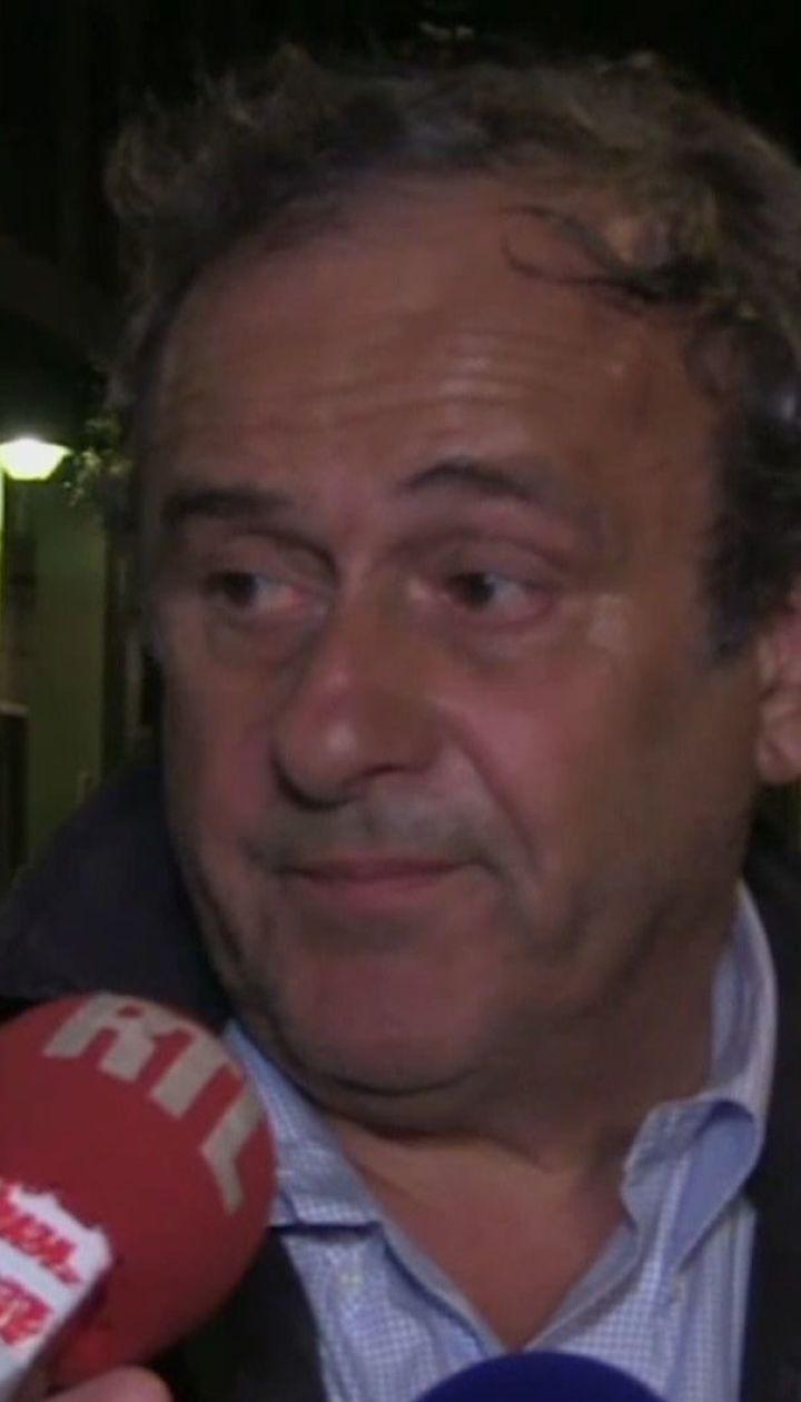 Ексголову УЄФА Платіні допитували 15 годин, а опісля — відпустили