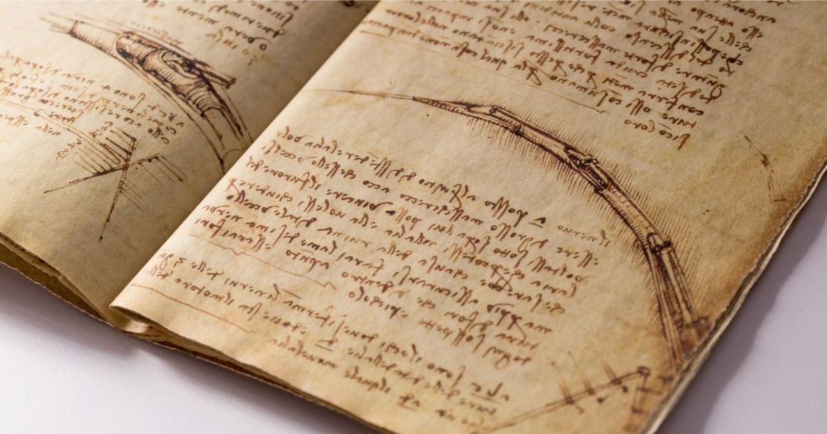 У вільний доступ виклали оцифровані записники Леонардо да Вінчі