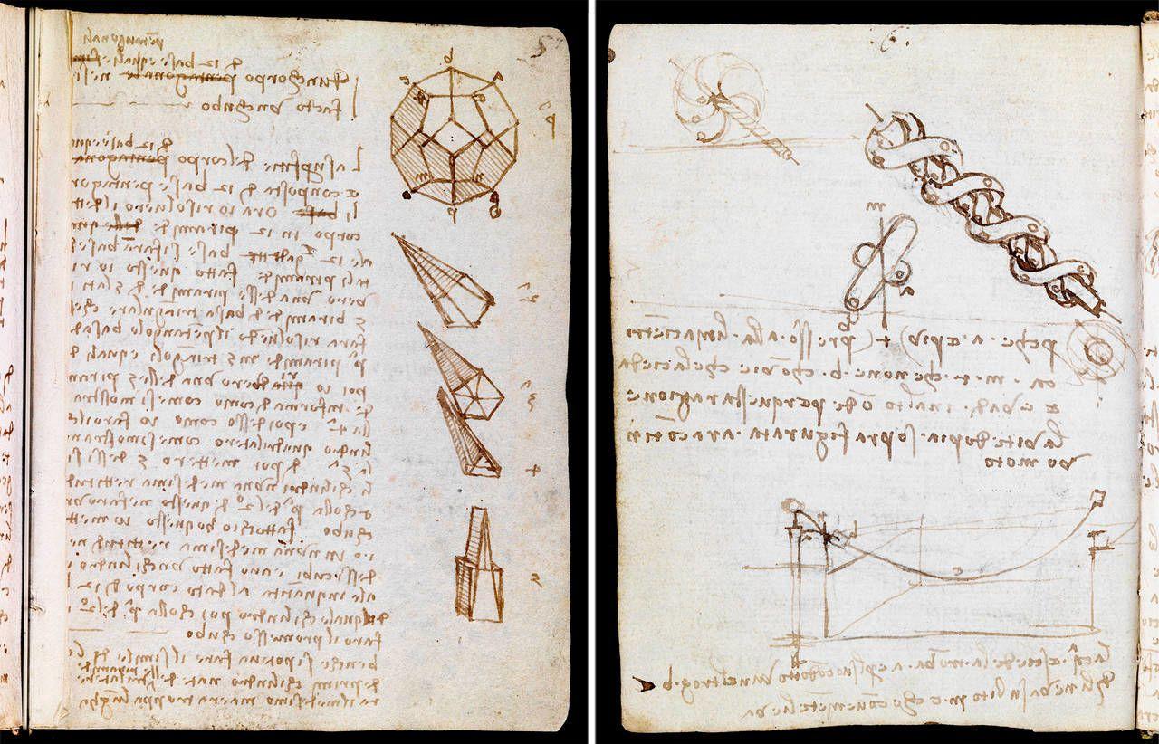 Леонардо да Вінчі записник