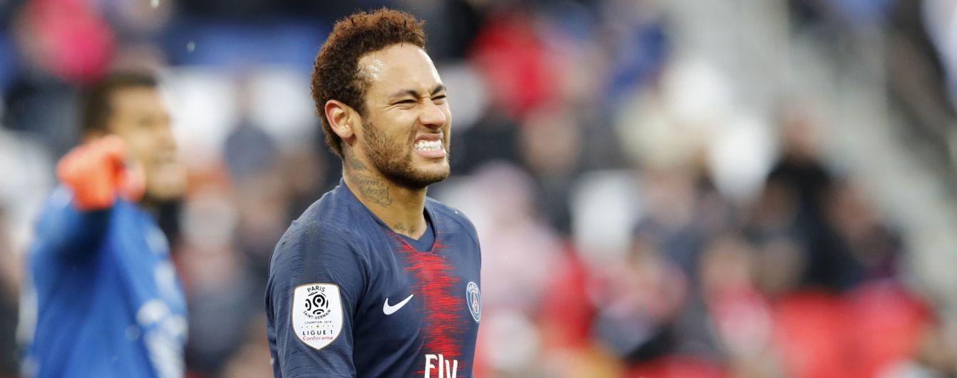 УЕФА отклонил апелляцию на дисквалификацию Неймара в Лиге чемпионов