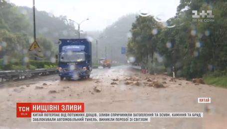 Китайская провинция Чжэцзян страдает от проливных дождей