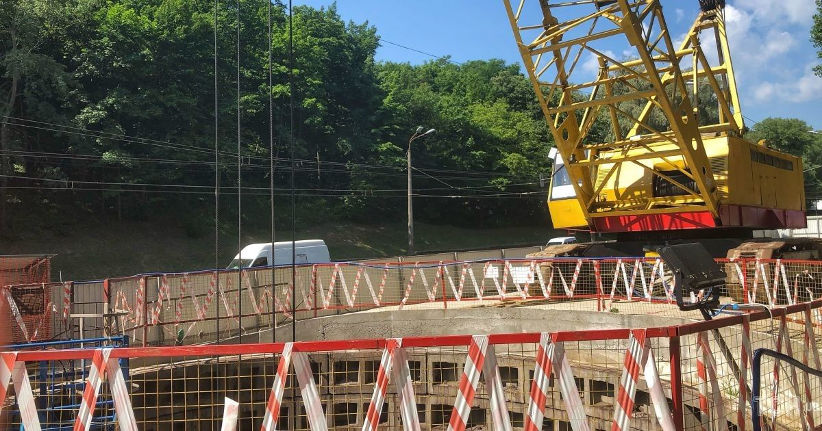 Строительство метро на Виноградарь @ фото: Юлия Яценко