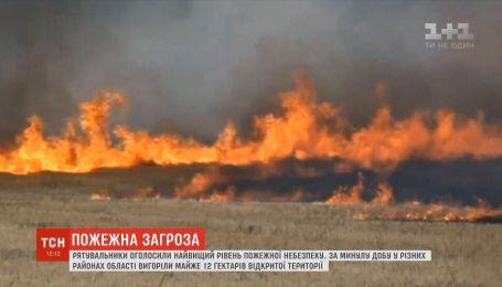 На Николаевщине несколько дней вспыхивает трава, сухостой, мусор и даже машины