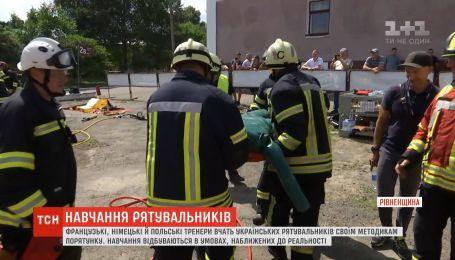 Украинские спасатели проводят обучения в условиях, приближенных к реальности
