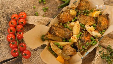 Запеченные куриные бедра с картофелем - рецепты Руслана Сеничкина