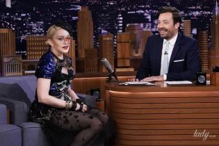 В прозрачном наряде со смелым декольте: Мадонна в откровенном образе посетила телешоу