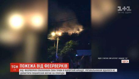 Искры из фейерверков подожгли элитный район Одессы