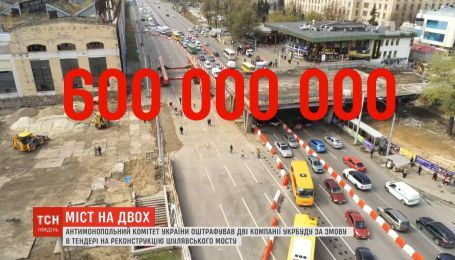 Антимонопольний комітет оштрафував дві компанії за змову в тендері на реконструкцію Шулявського мосту