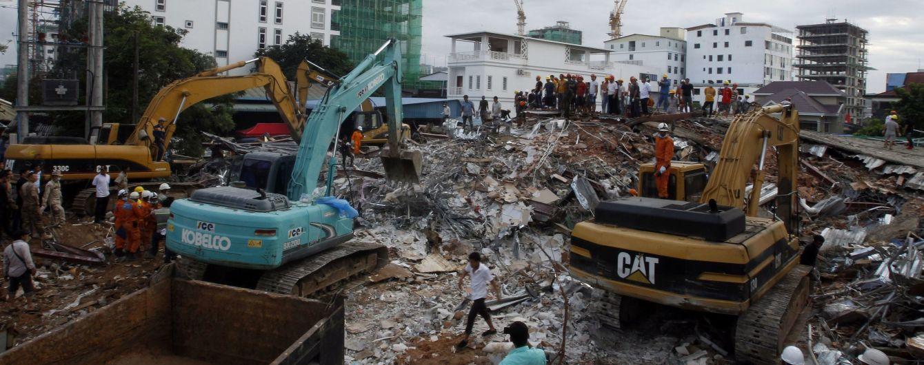 В Камбодже в результате разрушения здания погибли 18 человек