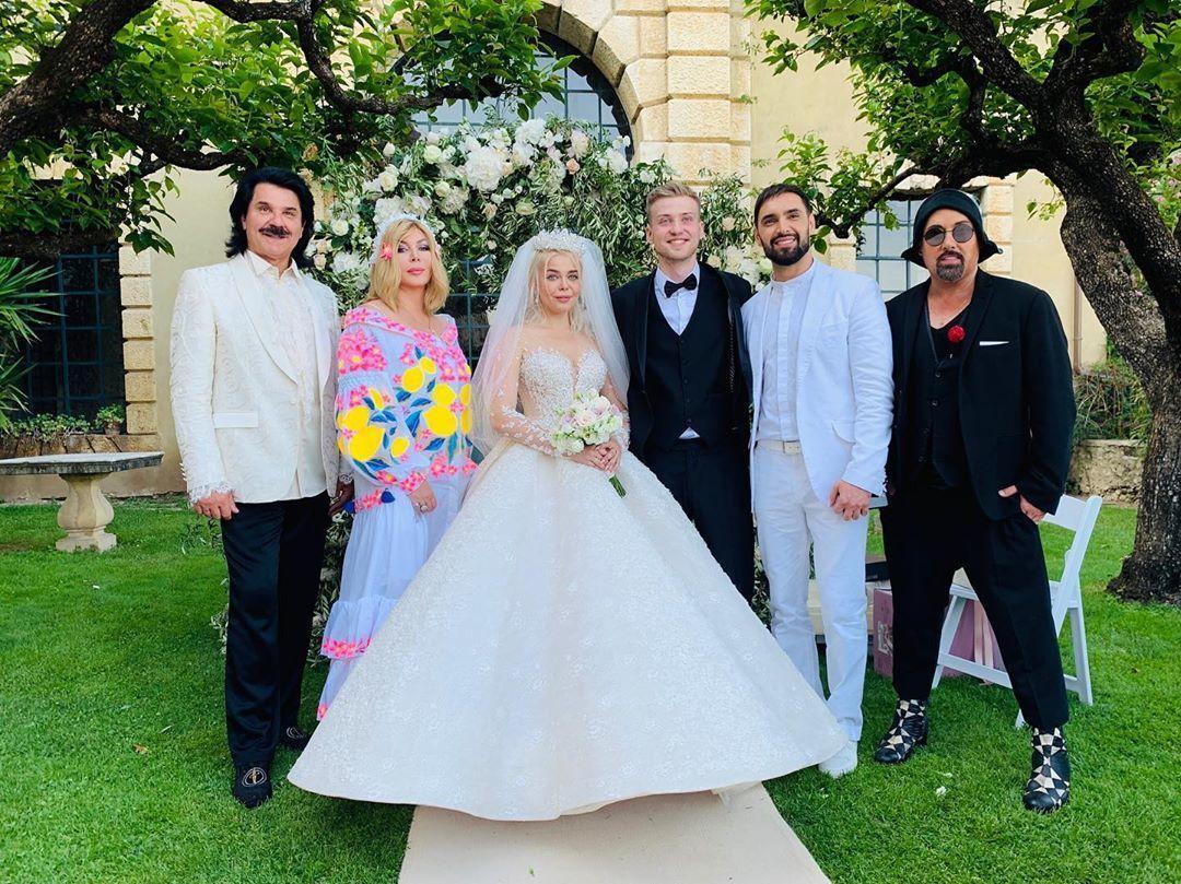 Аліна Гросу, весілля