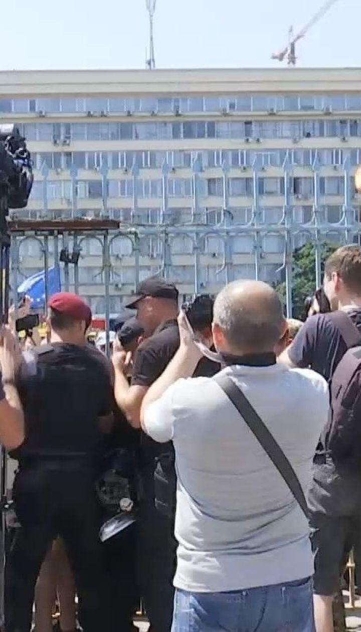 Представники партії Міхеїла Саакашвілі намагалися прорватися до ЦВК