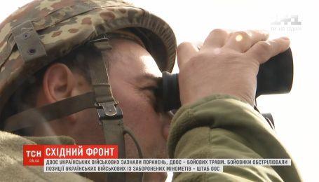 На Восточном фронте двое бойцов получили ранения, еще двое - боевых травм