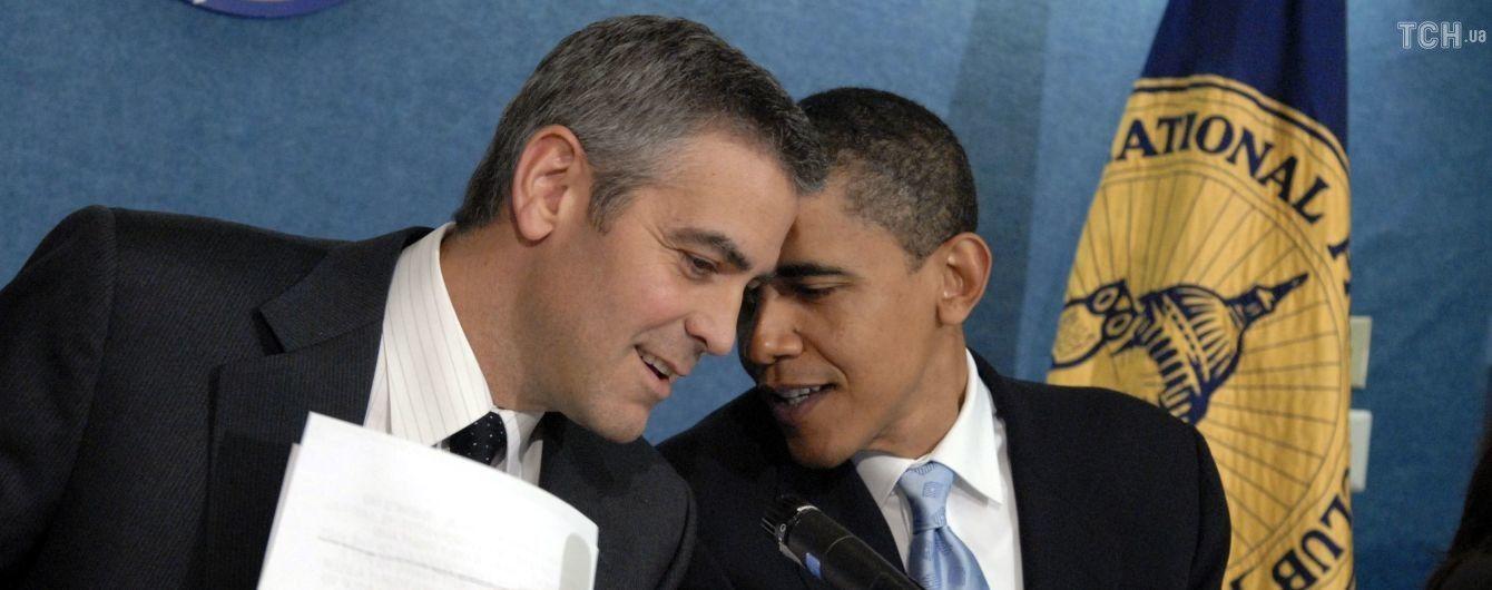 Джорджа Клуні та Барака Обаму заскочили під час спільного відпочинку в Італії