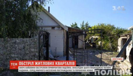 Оккупанты возобновили огонь по частным домам прифронтовой Авдеевки