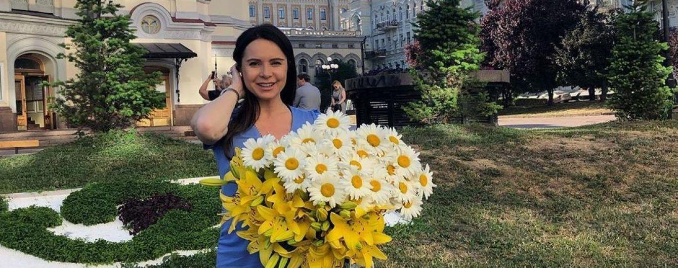 Вагітна Лілія Подкопаєва показала помітно округлий животик