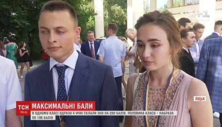 4 одноклассников из Луцка набрали максимальное количество баллов на ВНО