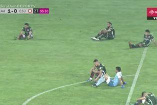Аргентинська команда влаштувала сидячий протест під час футбольного матчу