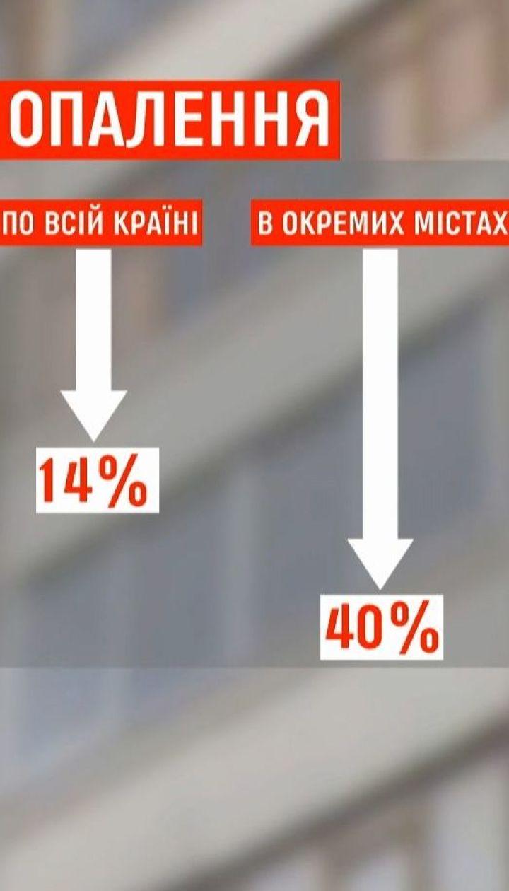 Згідно з рішенням Кабміну тарифи на опалення та гарячу воду зменшаться на 14%