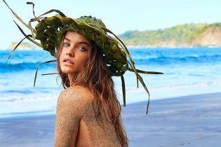 """Это горячо: """"ангел"""" Барбара Палвин позировала обнаженной на пляже"""