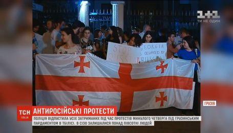 Протесты в Тбилиси: полиция отпустила всех задержанных на акции под грузинским парламентом
