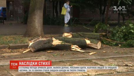 В результате мощного урагана в Киевской области один человек погиб, четверо пострадали