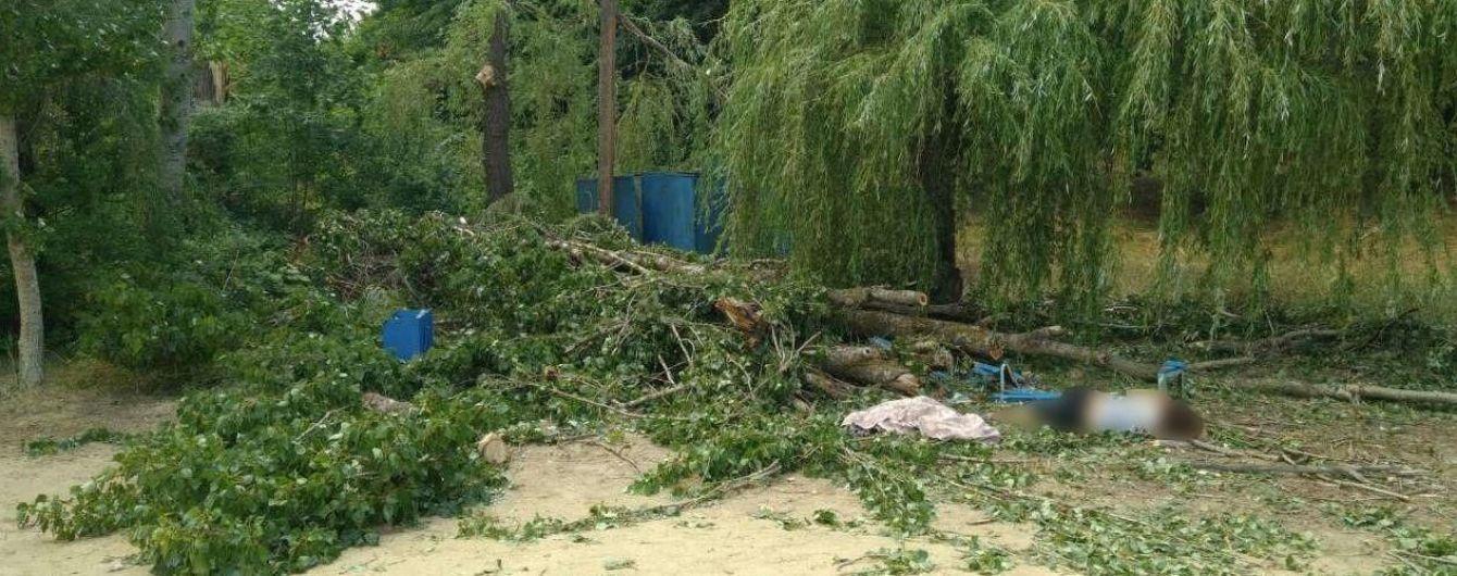 Під час негоди впала деревина й убила жінку, ще двох людей тяжко травмувала