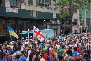 Впервые на гей-прайде в Нью-Йорке появилась украинская колонна
