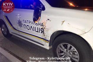 Водитель подшофе въехал в патрульное авто в Киеве и пытался сбежать