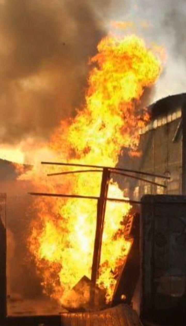 Неподалік міста Ірпінь спалахнула автозаправна станція із газом та дизельним пальним