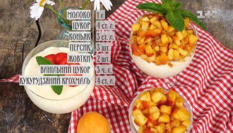 Молочный пудинг с персиком - рецепты Сеничкина