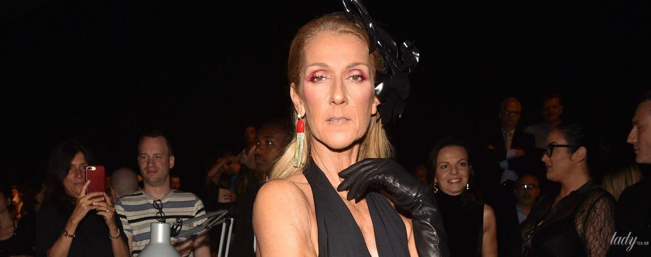 Сверкнула ребрами в откровенном платье: Селин Дион на модном показе