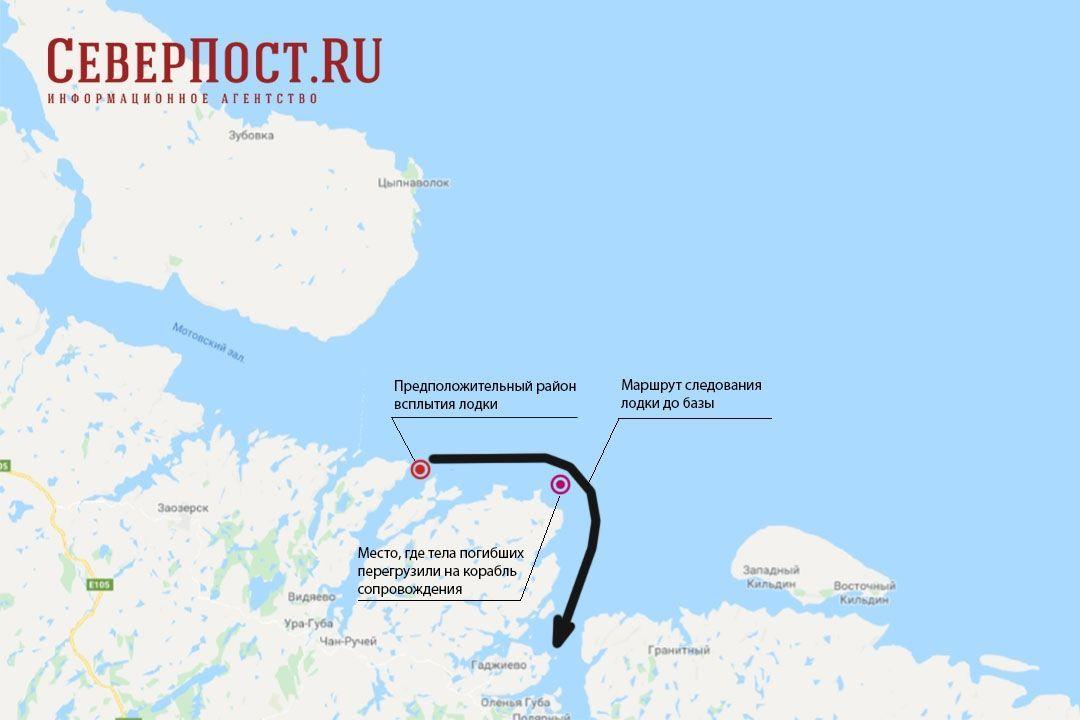 Пожежа на російський субмарині