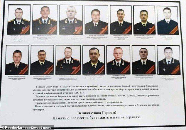 загиблі підводники, РФ