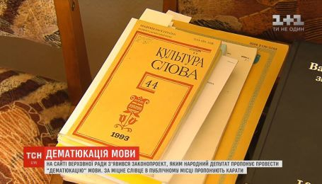 """В Раде появился законопроект, которым народный депутат предлагает провести """"дематюкацию"""" языка"""