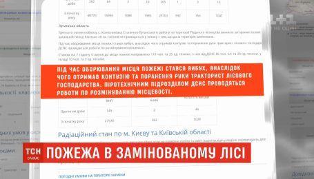 20 гектарів замінованого лісу загорілися на Луганщині